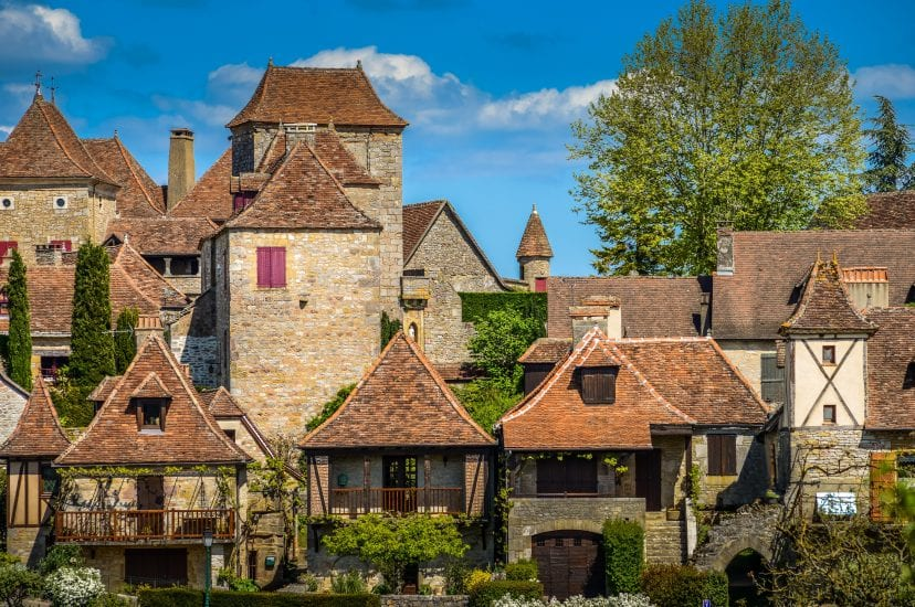 Loubressac most pictorial villages of france lot region