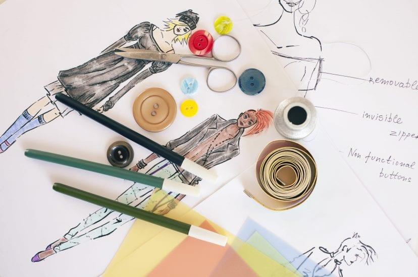 Fashion designer drawings